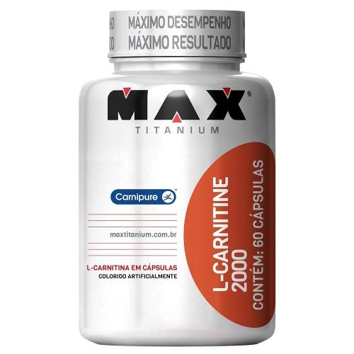 L-Carnitina 2000 Max Titanium - 60 Cápsulas