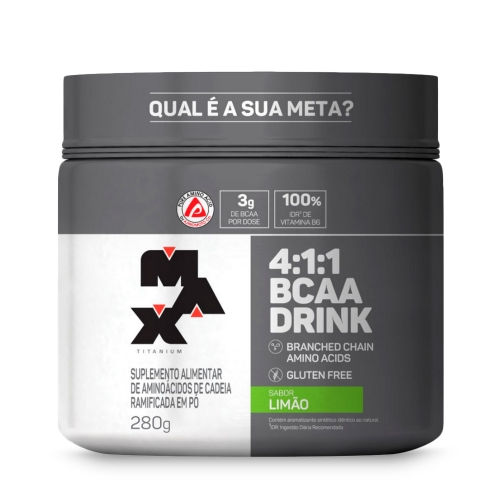 BCAA 4:1:1 Drink Sabor Limão (280g) - Max Titanium