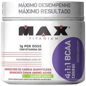 4:1:1 BCAA Drink - Max Titanium - Limão - 280g
