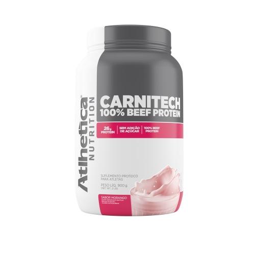 Carnitech 100% Beef Protein - Atlhetica Evolution - Morango - 900g