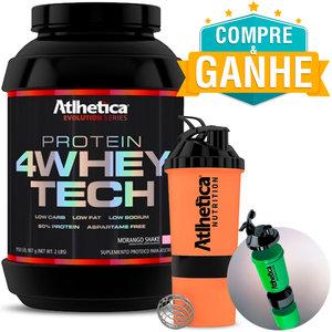 4 Whey Tech - Atlhetica Evolution - Baunilha - 907g Ganhe Coqueteleira 3 doses Neon