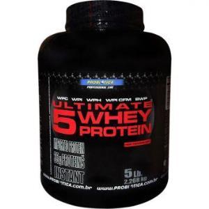 Ultimate 5 Whey Protein - Morango - Probiotica - 2.268g