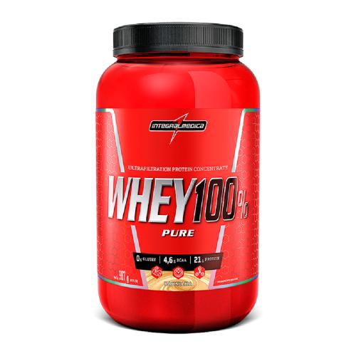 Super Whey 100% Pure (Pote) - Integralmédica - Morango - 907g