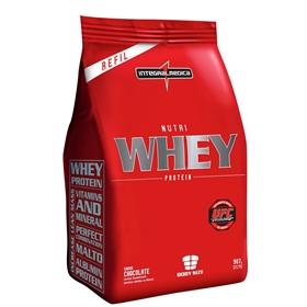 Nutri Whey Protein (Refil) Sabor Morango (907g) - Integralmédica