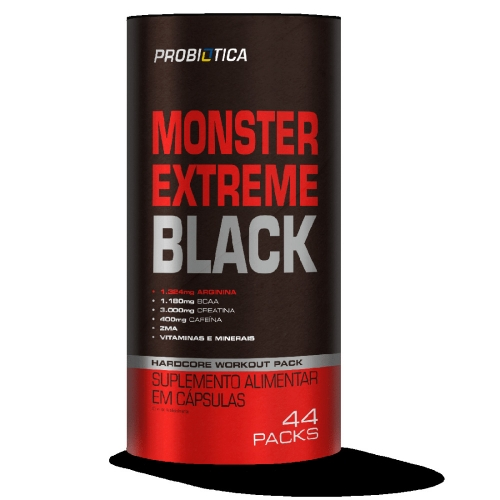 Monster Extreme Black Probiótica - 44 Packs
