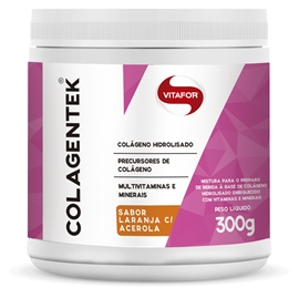 Colagentek (Colágeno Hidrolisado) Laranja com Acerola - Vitafor - 300g