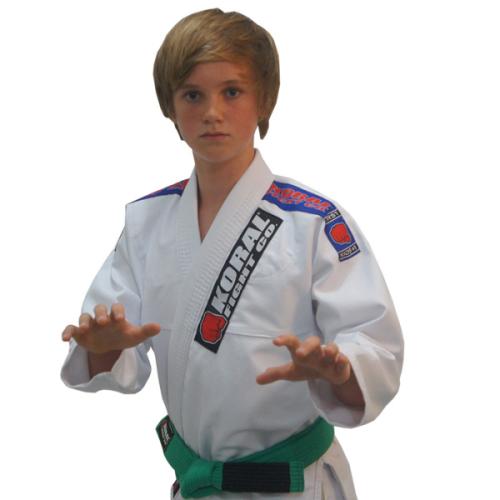 Kimono Infantil First - Koral - Branco - M3