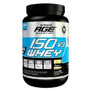 Whey Iso AGE Morango Nutrilatina - 910g