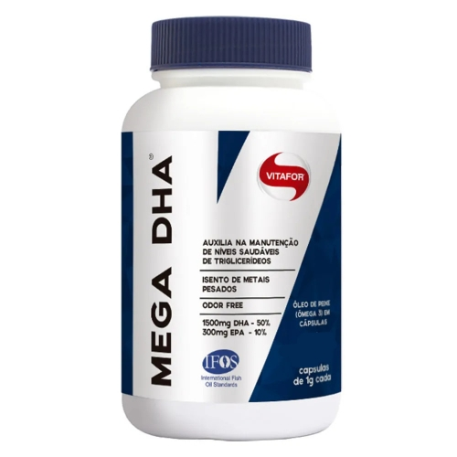 Mega DHA - Óleo de Peixe em Cápsula - Vitafor - 60 Cápsulas