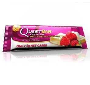 Quest Bar - Protein Bar - Chocolate Branco e Framboesa - 60g