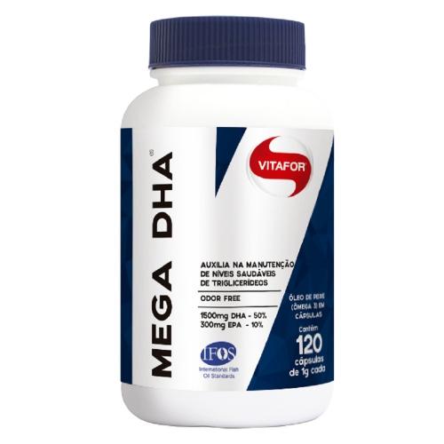 Mega DHA - Óleo de Peixe em Cápsula - Vitafor - 120 Cápsulas