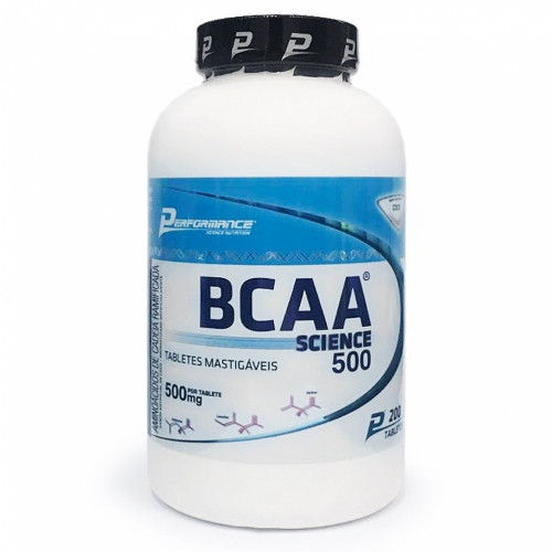 BCAA Science Mastigável - Performance Nutrition - Laranja - 200 Tabletes