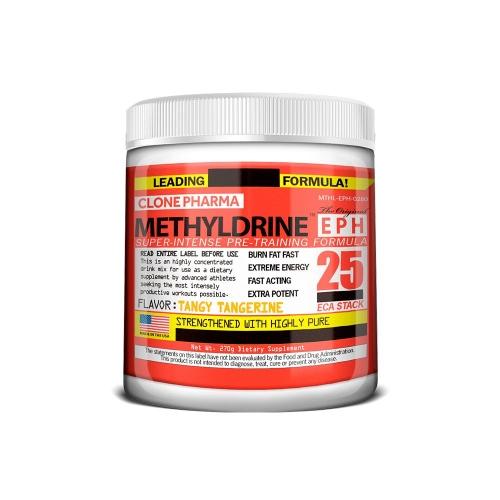 Methyldrene 25 Eca Stack Sabor Tangerina (270g) - Clone Pharma