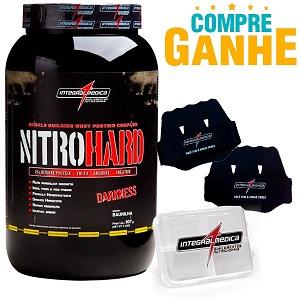 Nitro Hard Darkness - Integralmédica - Morango - 907g + Luva Protetora EVA + Porta-Cápsulas