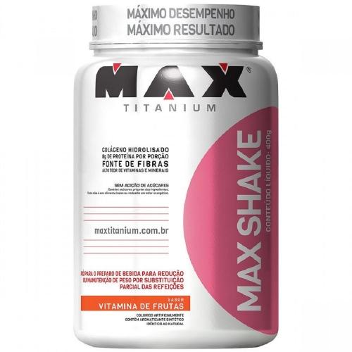 Max Shake - Max Titanium - Vitamina de Frutas - 400g