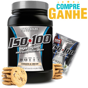 Whey Protein Hydrolized Iso 100 Dymatize - Cookies - 732g (Val 04/2018)