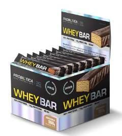 Whey Bar Probiótica - 40g (1 Caixa - 24 unidades) - Amendoim