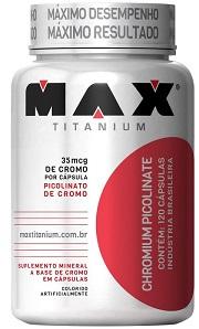 Picolinato de Cromo - Max Titanium - 120 Cápsulas