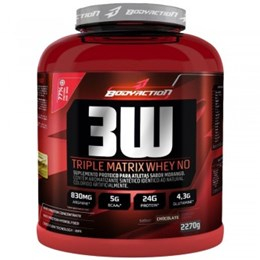 3W Triple Matrix Whey NO - Morango - Body Action - 2.270g