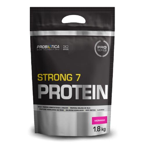 Strong 7 Protein - Probiótica - Morango - 1.800g