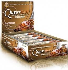 Quest Bar - Protein Bar - Canela - 1 Caixa ( 12 Unidades)