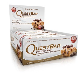 Quest Bar - Protein Bar - 1 Caixa ( 12 Unidades) - Chocolate Chip Cookie Dough