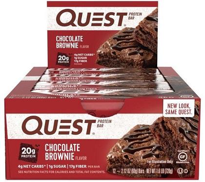 Quest Bar - Protein Bar Sabor Chocolate Brownie (Caixa c/ 12 Unidades de 60g cada) - Quest Nutrtion