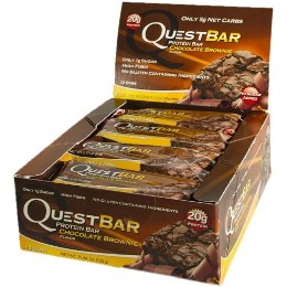 Quest Bar - Protein Bar - 1 Caixa ( 12 Unidades) - Chocolate Brownie