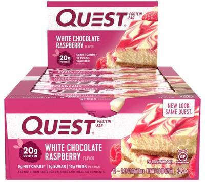 Quest Bar - Protein Bar Sabor Chocolate Branco (Caixa c/ 12 Unidades de 60g cada) - Quest Nutrtion