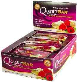Quest Bar - Protein Bar - 1 Caixa ( 12 Unidades) - Chocolate Branco e Framboesa