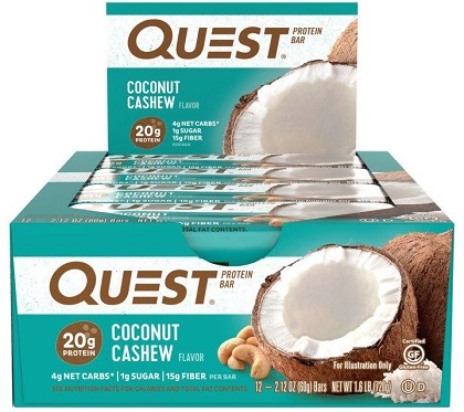 Quest Bar - Protein Bar Sabor Coco (Caixa c/ 12 Unidades de 60g cada) - Quest Nutrtion