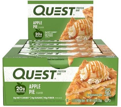 Quest Bar - Protein Bar Sabor Torta de Maçã (Caixa c/ 12 Unidades de 60g cada) - Quest Nutrtion
