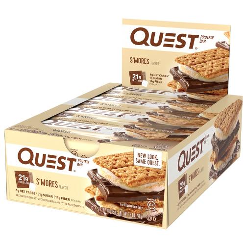 Quest Bar - Protein Bar Sabor Smores (Caixa c/ 12 Unidades de 60g cada) - Quest Nutrtion