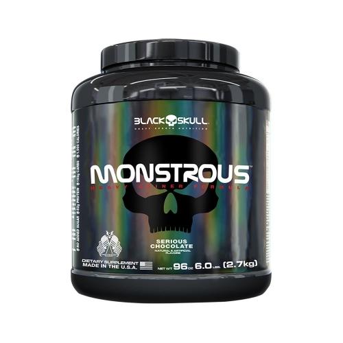 Monstrous Gainer Sabor Morango - (2,7Kg) - Black Skull