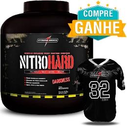 Nitro Hard Darkness - Integralmédica - Morango - 2,3kg - Grátis 1 Camiseta de Futebol Americano Darkness