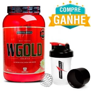W Gold Whey Protein - integralmédica - Chocolate - 907g e Ganhe 1 Coqueteleira Shaker 450ml