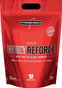 Super Whey Reforce Refil - Integralmédica - Morango - 1,8 Kg