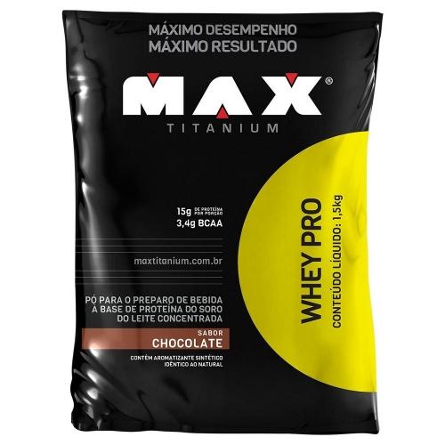 Whey Pro Refil Sabor Baunilha - (1,5 Kg) - Max Titanium