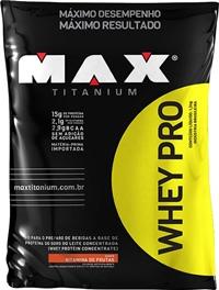 Whey Pro Refil Sabor Morango - (1,5 Kg) - Max Titanium