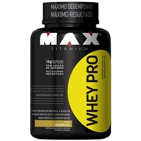 Whey Pro - Max Titanium - Morango - 1 Kg