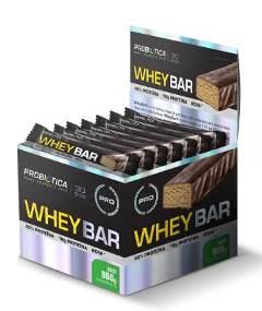 Whey Bar Sabor Coco (Caixa  c/ 24 unidades de 40g cada) - Probiótica