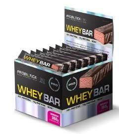 Whey Bar Sabor Morango (Caixa  c/ 24 unidades de 40g cada) - Probiótica
