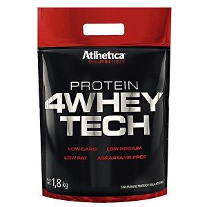 4 Whey Tech - Atlhetica Evolution - Morango - 1,8 Kg