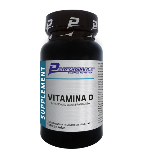 Vitamina D (100 Tabletes) - Performance Nutrition - Framboesa
