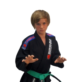 Kimono Koral Infantil First - Preto - M3