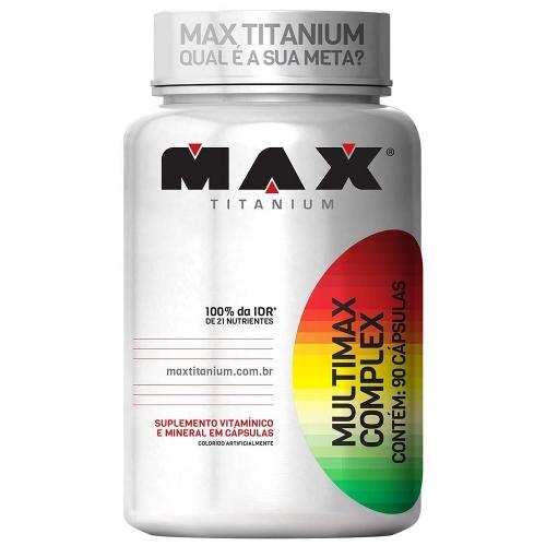 Multimax Complex - Max Titanium - 90 Cápsulas