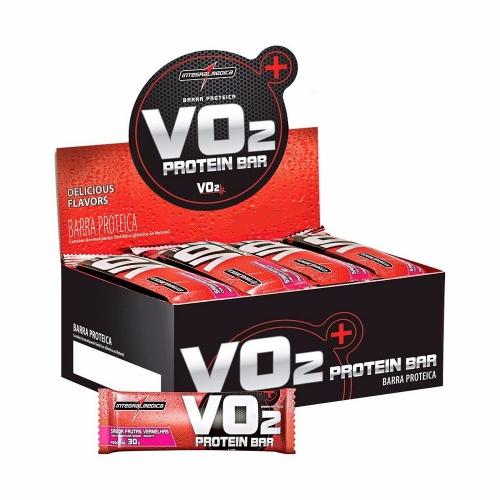 Vo2 Whey Bar Sabor Frutas Vermelhas e Iogurte (1 cx c/ 24 Unidades de 30g) - Integralmédica