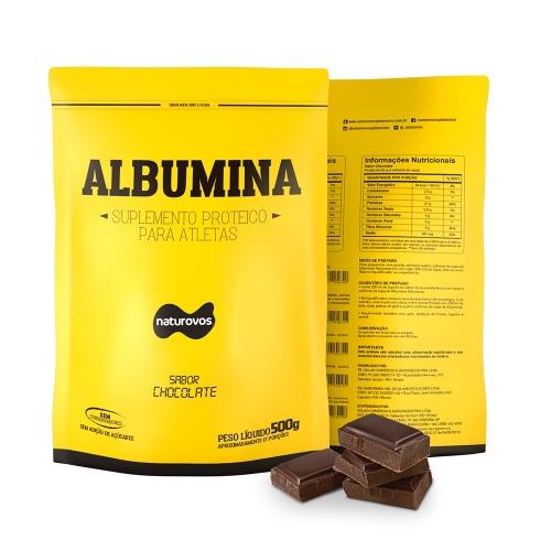 Albumina Naturovos Sabor Chocolate (500g) - Naturovos
