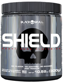 Shield - (L-Glutamine) -  Black Skull - 300g