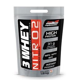 3 Whey Nitro 2 - New Millen - 1,8Kg - Baunilha